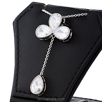 Crystal Stones Pendant With Chain Online at Kapruka | Product# jewllery00SK733