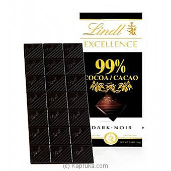 Lindt Excellence 99% Cocoa-50g Online at Kapruka | Product# chocolates00784