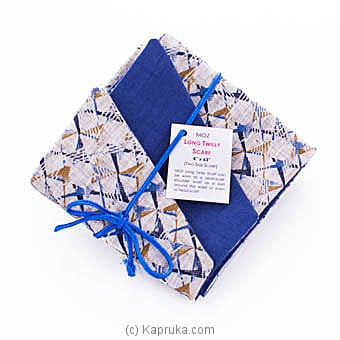 MOZ Women`s Long Twilly Scarf - Navy Blue And Beige Online at Kapruka   Product# fashion001066