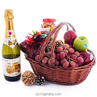 Seasonal Fruits With Goodies Hamper Online at Kapruka | Product# fruits00144