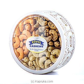 Royal Cashews 3 In 1 Rigid Container - Gift Pack-500g Online at Kapruka | Product# grocery00854
