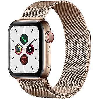 Apple Iwatch Series 5 - 44mm Gold Aluminum GPS + Cellular - Milanese Loop Online at Kapruka   Product# elec00A1740
