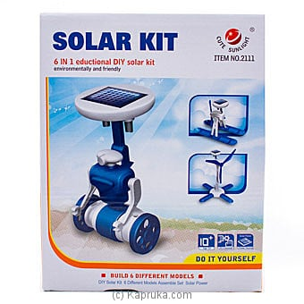 6 In 1 Solar Toy Kit Robot