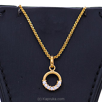 Vogue 22K Gold Pendant  With 7 (c/z) Rounds By NA at Kapruka Online forspecialGifts