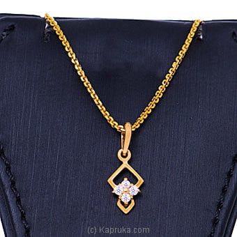 Vogue 22K Gold Pendant With 4 (c/z) Rounds By NA at Kapruka Online forspecialGifts