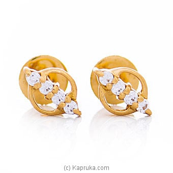 Vogue 22K Ear Stud Set With 8 Cz Rounds Online at Kapruka | Product# vouge00382