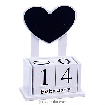 Wooden Heart Desk Calendar Ornament Online at Kapruka | Product# ornaments00694