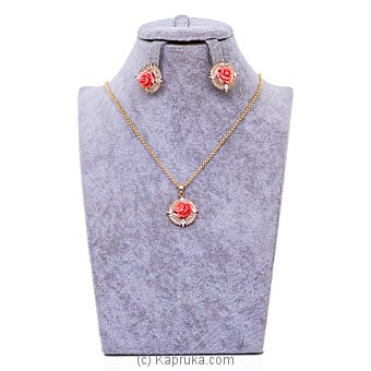 Coral Necklace Set-(GP0893) By Stone N String at Kapruka Online forspecialGifts