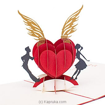 3D Heart Popup Greeting Card Online at Kapruka | Product# greeting00Z1937