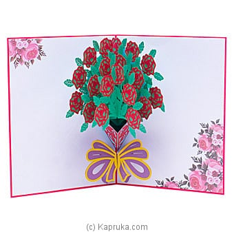 Happy Birthday 3D Popup  Greeting Card By NA at Kapruka Online forspecialGifts