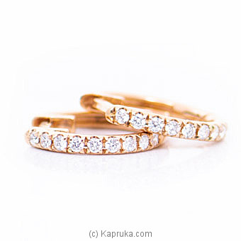 18k Rose Gold Earrings With VVS DIAMOND (ALE 1497 PINK) By Alankara at Kapruka Online forspecialGifts