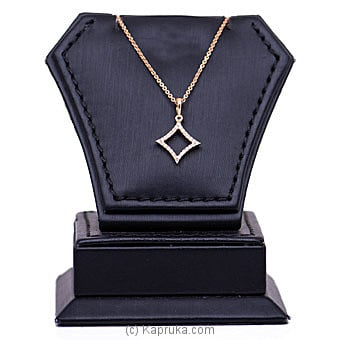 18k Rose Gold Pendant With Chain (AJP 4074 PINK) By Alankara at Kapruka Online forspecialGifts