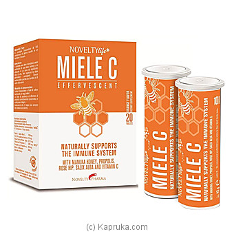 2 Bottles Of Miele C Manuka Honey And Propolis Effervescent Tablets - Made In Switzerland Online at Kapruka | Product# grocery00880