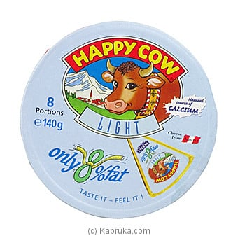 Happy Cow Cheese Low Fat Round Box (140g) Online at Kapruka | Product# grocery00956