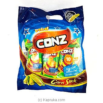 Mini Conz Family Pack- Roasted Corn Flavour- 10 Corn Sticks Per Pack- 80g Online at Kapruka | Product# grocery001011