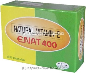Enat 400 - Natural Vitamin E pkt - Kapruka Product Vitamin013