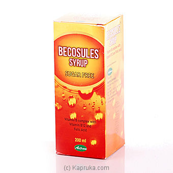 Becosules Syrup - Vitamin B Complex Bottle - 200ml Online at Kapruka | Product# Vitamin014