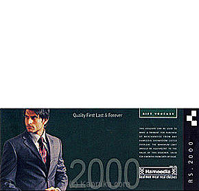 Rs 2,000 Hameedias Gift Voucher Online at Kapruka | Product# giftVoucher00H1
