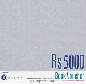 Kapruka Online Shopping Product Rs 5000 Sarasavi Gift Voucher