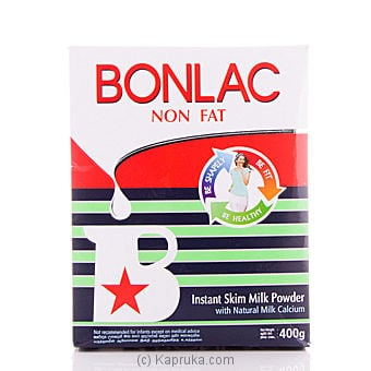 Bonlac Non Fat Skim Milk Powder Pkt - 400g Online at Kapruka | Product# grocery0004