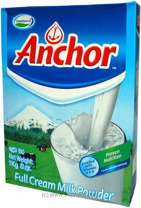 ANCHOR Full Cream Milk Powder - 1kg - Kapruka Product grocery0093