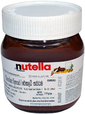 Ferrero Nutella Hazelnut Chocolate Spread Bottle - 350g By Ferrero Rocher at Kapruka Online forspecialGifts