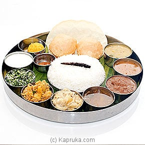 South Indian Thali - Lunch Only at Kapruka Online