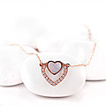 Rose Gold Heart Shape Pendant With Chain at Kapruka Online
