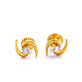 22kt Gold Ear Stud (E108/1) at Kapruka Online
