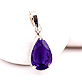 Purple Stone Pendant With Silver Chain at Kapruka Online