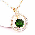Green Crystal Stone Pendant With Chain at Kapruka Online