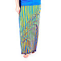 Peacock Blue stripes lungi with blouse meterial at Kapruka Online for specialGifts