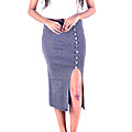 Gray Stretch Pencil Skirt at Kapruka Online