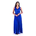V-Neck Long Prom Dress - Blue at Kapruka Online for specialGifts