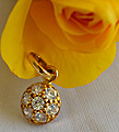 22K Gold Round Pendant With 7 (C/Z) at Kapruka Online Shops