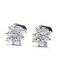 18kt White Gold Ear Stud With Diamond (E2) at Kapruka Online Shops