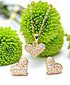 Gold Heart Necklace With Earrings at Kapruka Online Shops