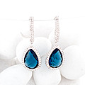 Royal Blue Crystal Earing  Pair at Kapruka Online