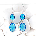 Blue Stone Pair Of Earings at Kapruka Online