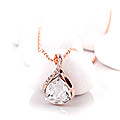 Water Drop Rose Gold Necklace at Kapruka Online