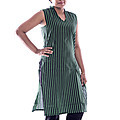 Sleeveless Green Kurutha Top With Black Stripes at Kapruka Online for specialGifts