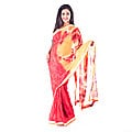 Red Floral Printed Silk Saree at Kapruka Online for specialGifts